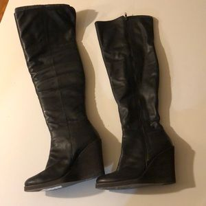 Lucky brand leather tall boots